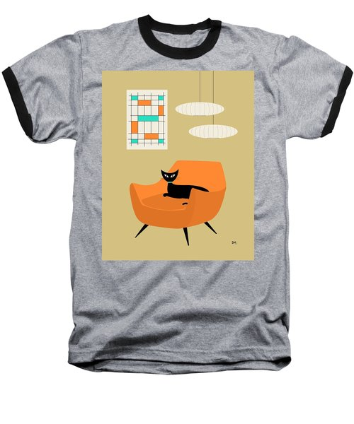 Mini Abstract With Orange Chair Baseball T-Shirt
