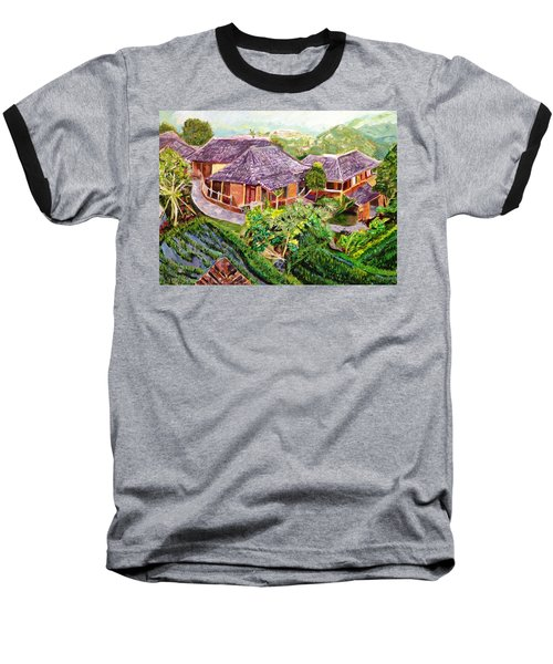 Baseball T-Shirt featuring the painting Mini Paradise by Belinda Low