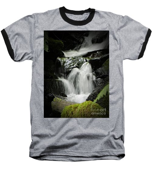 Mini Waterfall 2 Baseball T-Shirt by Chalet Roome-Rigdon