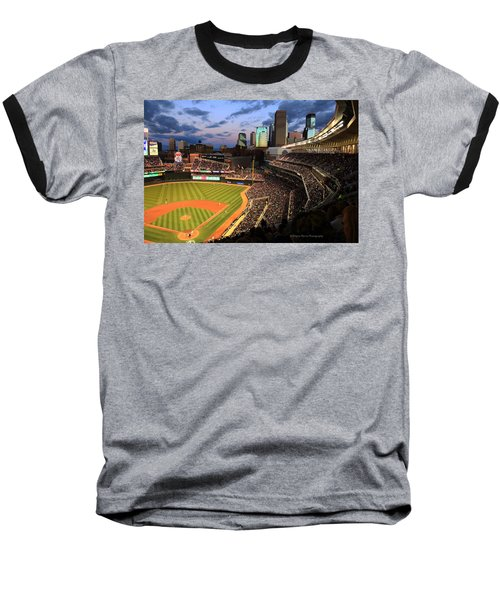 Minnesota Twins Minneapolis Skyline Target Field Baseball T-Shirt