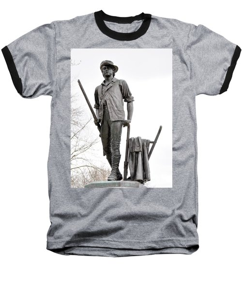 Minute Man Statue Baseball T-Shirt