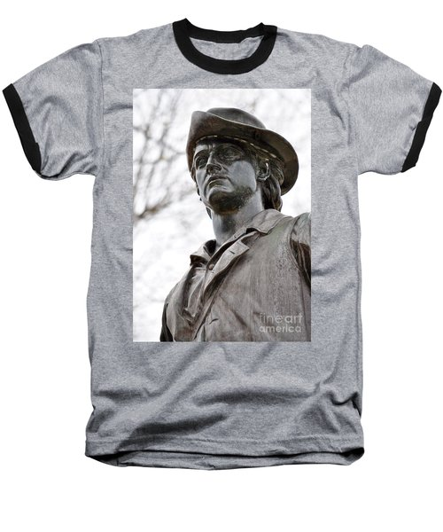 Minute Man Statue 3 Baseball T-Shirt