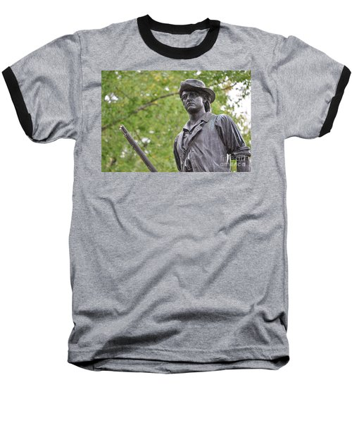 Minute Man Statue In Spring Baseball T-Shirt