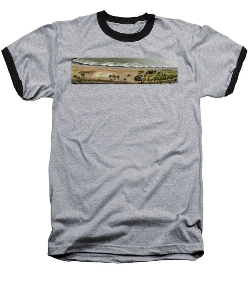 Miraflores Beach Panorama Baseball T-Shirt