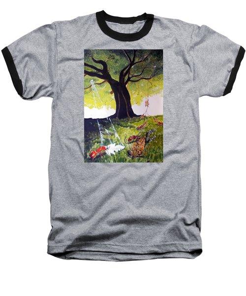 Mirage Of Lives  Baseball T-Shirt by Lazaro Hurtado