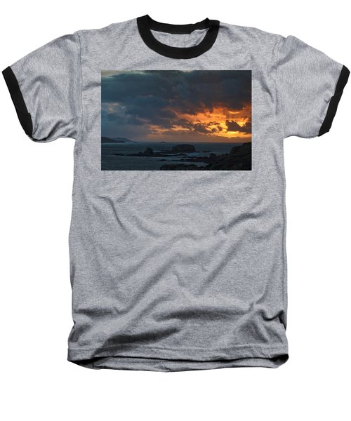 Baseball T-Shirt featuring the photograph Mirandas Islands Galicia Spain by Pablo Avanzini