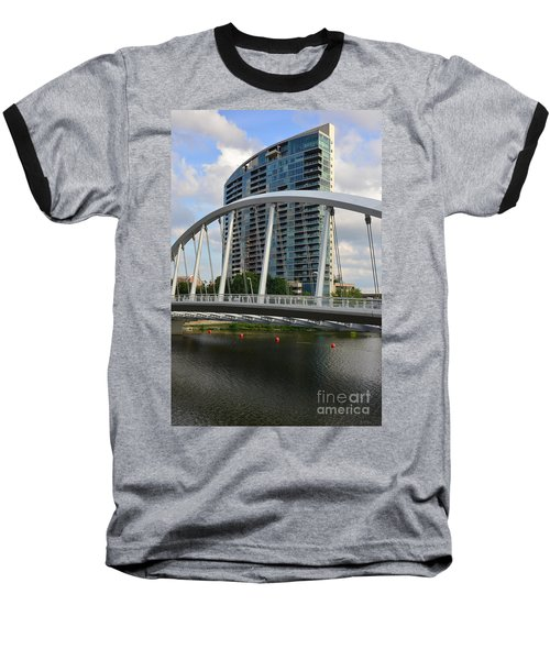 Fx1l820 Main Street Bridge In Front Of Miranova Baseball T-Shirt