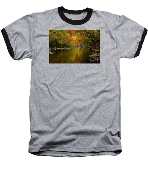 Baseball T-Shirt featuring the photograph Mirror Fall Stream In The Mountains by Debbie Green