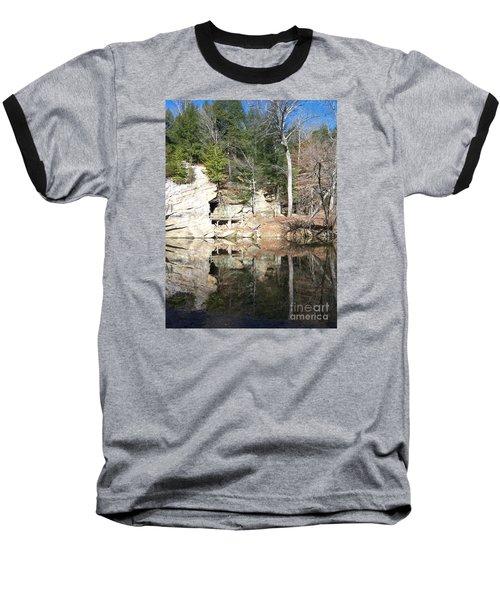 Sugar Creek Mirror Baseball T-Shirt by Pamela Clements