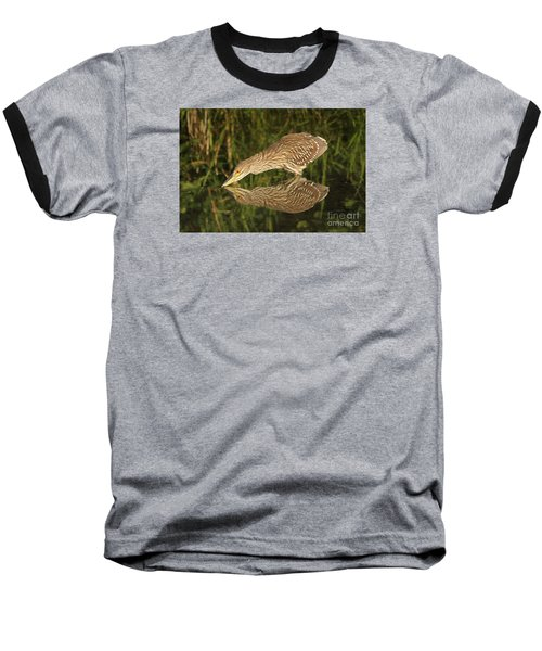 Baseball T-Shirt featuring the photograph Mirror Mirror On The Wall Who Is The Fairest Heron Of All by Heather King