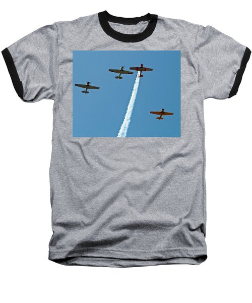 Baseball T-Shirt featuring the photograph Missing Man Flyover by Allen Sheffield