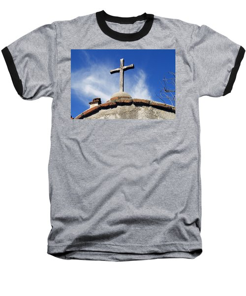 Mission Cross Baseball T-Shirt by Shoal Hollingsworth