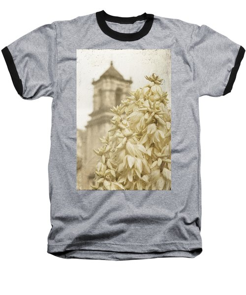 Mission San Jose And Blooming Yucca Baseball T-Shirt