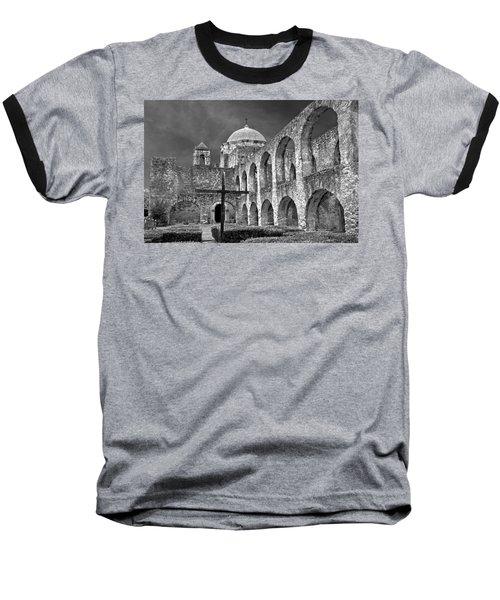 Mission San Jose Arches Bw Baseball T-Shirt