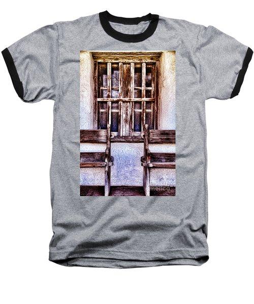Mission Soledad Window Seating By Diana Sainz Baseball T-Shirt