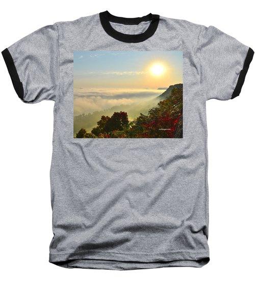 Mississippi River Fog Baseball T-Shirt
