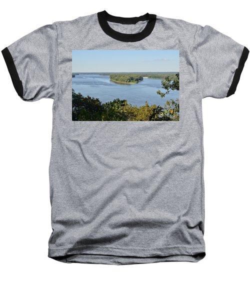 Mississippi River Overlook Baseball T-Shirt