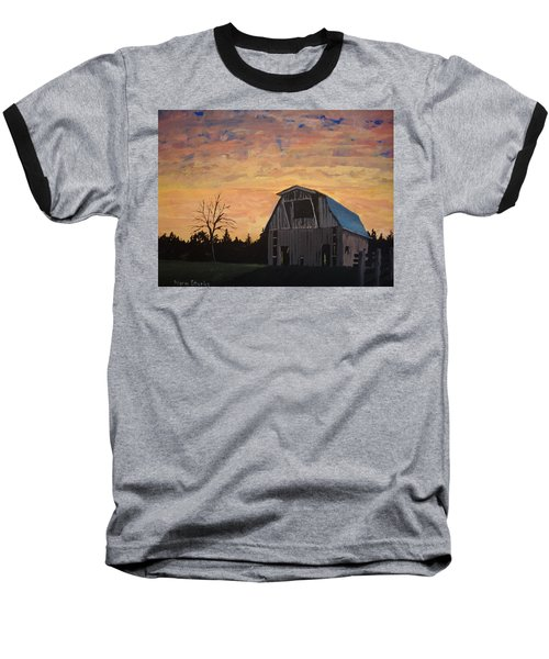 Baseball T-Shirt featuring the painting Missouri Barn by Norm Starks