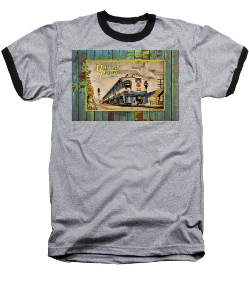 Missouri Pacific Lines Sign Engine 309 Dsc02854 Baseball T-Shirt by Greg Kluempers