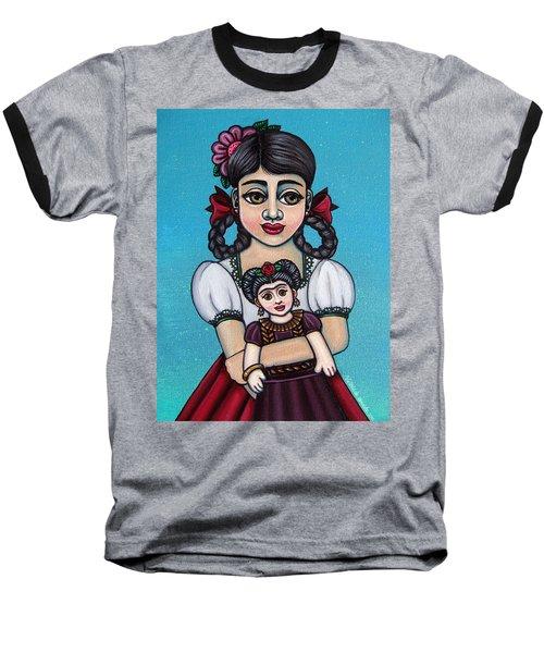 Missy Holding Frida Baseball T-Shirt