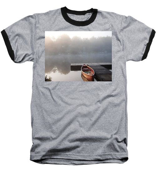 Mist Floating Over The Lake Baseball T-Shirt