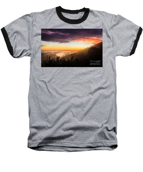 Mist Rising At Dusk Baseball T-Shirt