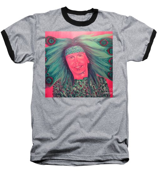 Baseball T-Shirt featuring the painting Mister Peacock by Jeepee Aero