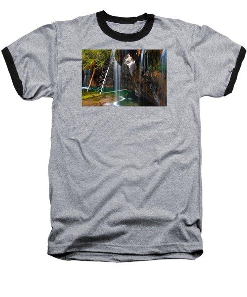 Misty Falls At Hanging Lake Baseball T-Shirt