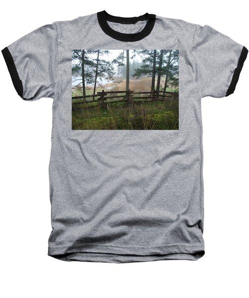 Baseball T-Shirt featuring the photograph Misty Flats by Cheryl Hoyle
