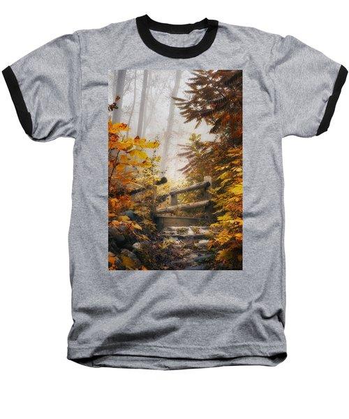 Misty Footbridge Baseball T-Shirt