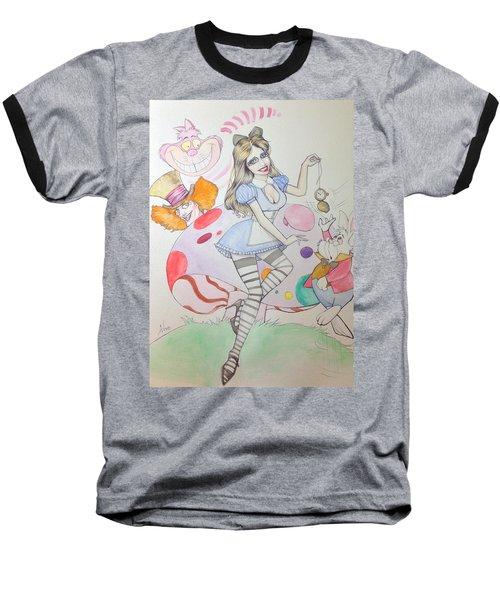 Misty Kay In Wonderland Baseball T-Shirt by Jimmy Adams