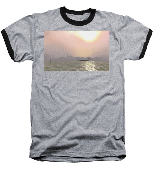 Baseball T-Shirt featuring the painting Misty Lagoona 34 X 47 by Michael Swanson
