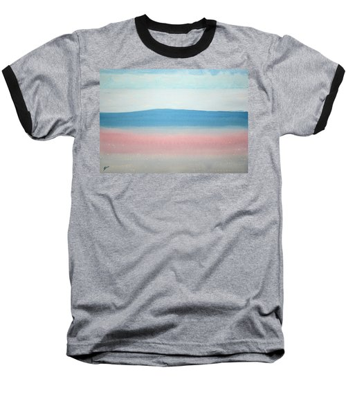 Misty Lake Original Painting Baseball T-Shirt