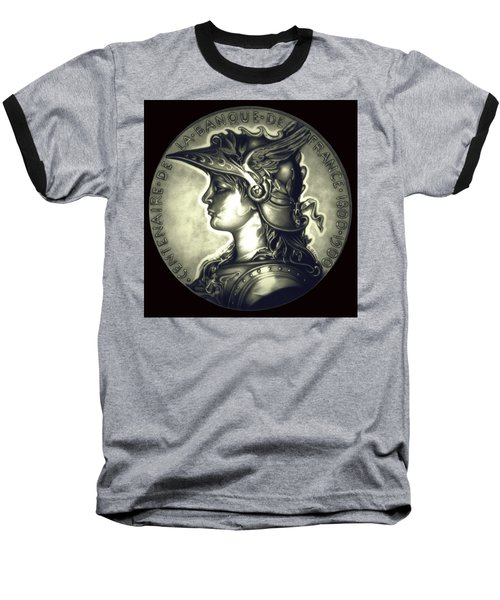 Misty Midnight Black Marianne Baseball T-Shirt