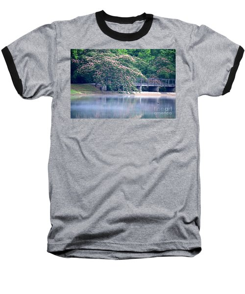 Misty Mimosa Reflections Baseball T-Shirt by Maria Urso