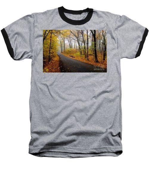 Misty Minnesota Mile Baseball T-Shirt by Jacqueline Athmann
