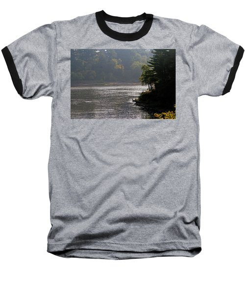 Misty Morning Baseball T-Shirt by Kay Novy