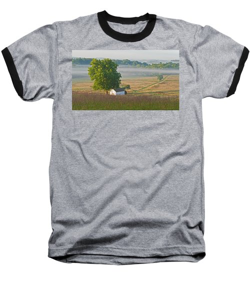 Misty Morning Baseball T-Shirt by Michael Porchik