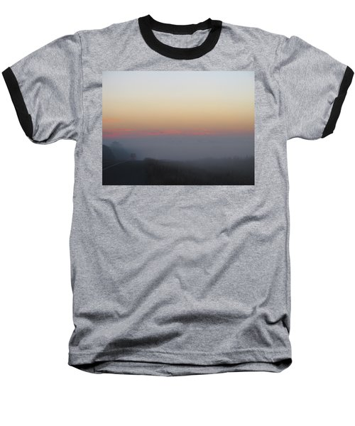 Misty Morning Road Baseball T-Shirt