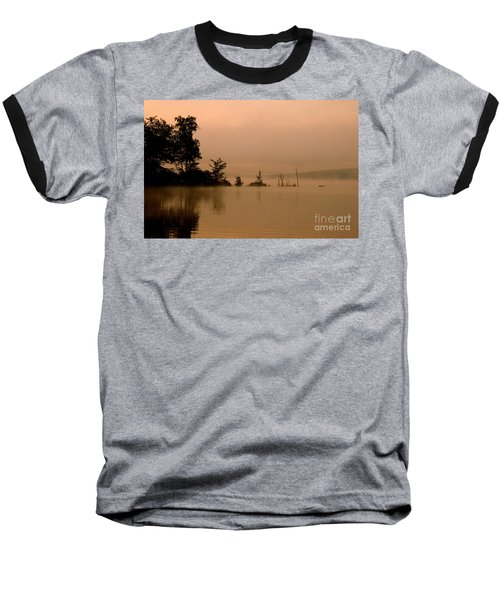 Misty Morning Solitude  Baseball T-Shirt