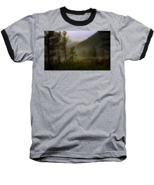 Baseball T-Shirt featuring the photograph Misty Mountain by Ellen Heaverlo