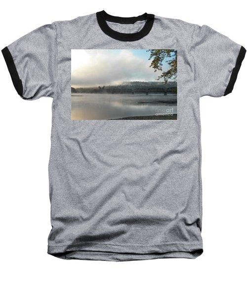 Misty Railway Bridge Baseball T-Shirt