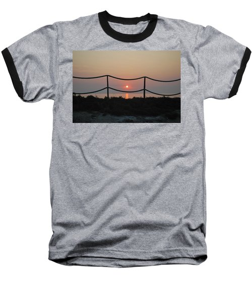 Misty Sunset 1 Baseball T-Shirt by George Katechis
