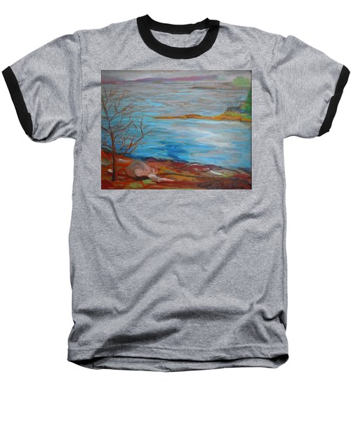 Baseball T-Shirt featuring the painting Misty Surry by Francine Frank
