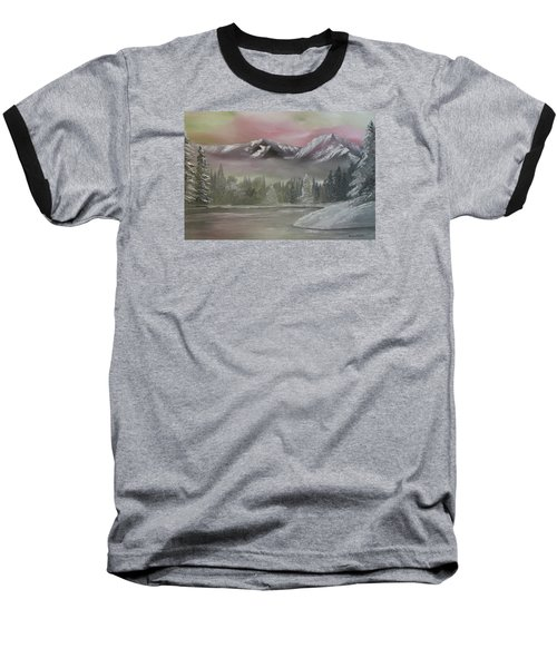Misty Winter Baseball T-Shirt