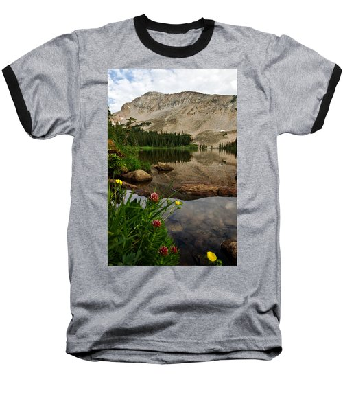 Mitchell Lake Reflections Baseball T-Shirt by Ronda Kimbrow