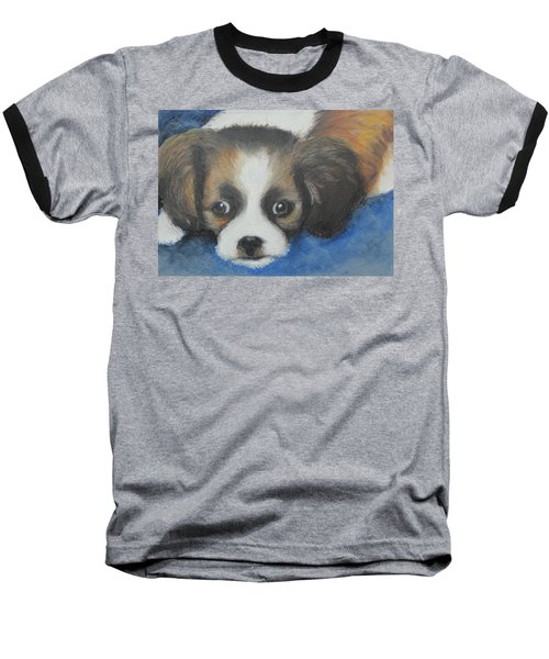 Baseball T-Shirt featuring the painting Mitzy by Jeanne Fischer