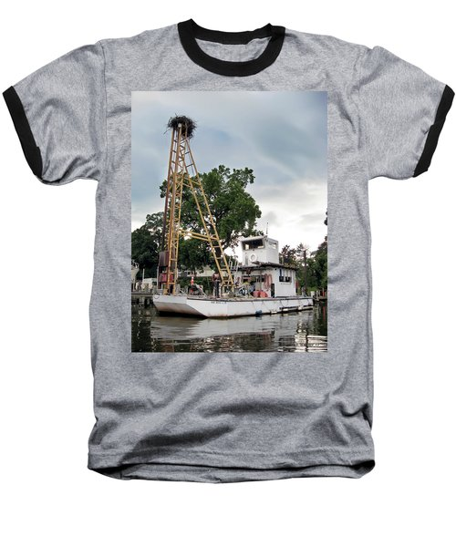 Baseball T-Shirt featuring the photograph Mobile Osprey Nest by Brian Wallace
