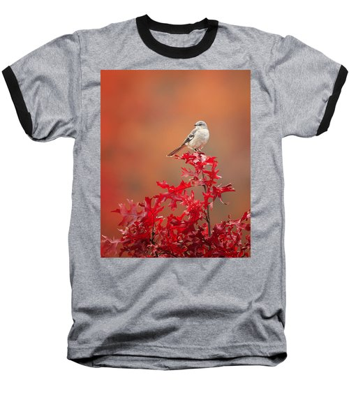 Mockingbird Autumn Baseball T-Shirt by Bill Wakeley