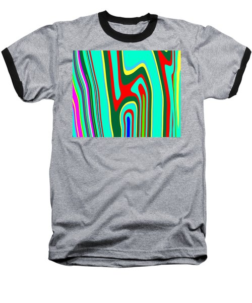 Baseball T-Shirt featuring the painting Mod Stripes  C2014 by Paul Ashby